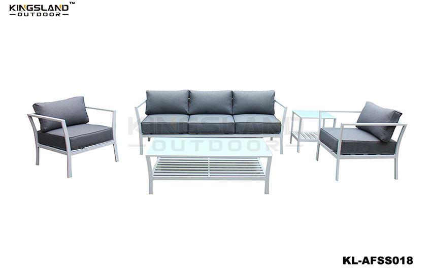 Aluminum frame lounge set for 5 person, 5pcs set
