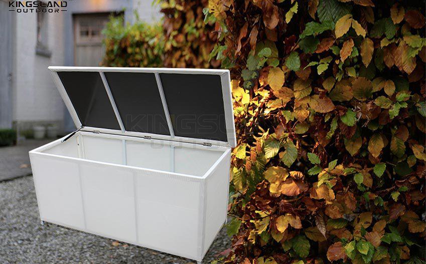 Aluminum frame water resistant textilene cushion stockage box